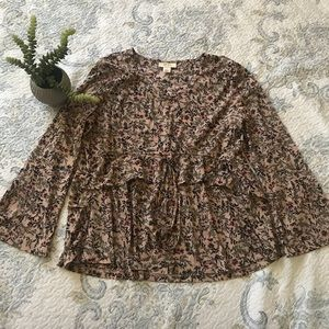 Style & Co Lightweight Whimsical Floral Blouse L